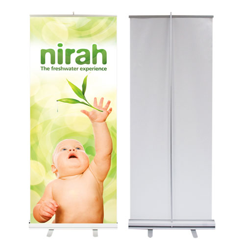 retractable pull up print banner stand