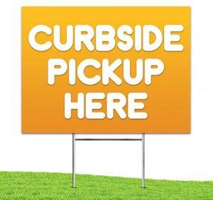 Curbside_Pickup_Yard_stake_corrugated_sign