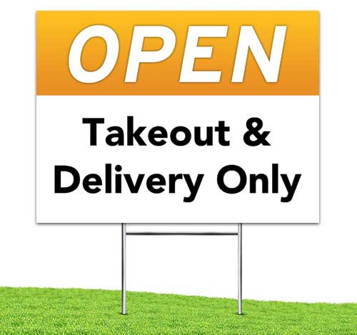 Open_takeout_delivery_Yard_stake_corrugated_sign_orange