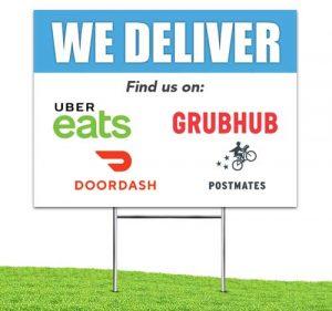 We_Deliver_food_Apps_Yard_stake_corrugated_sign_Blue