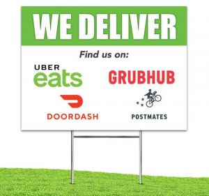 We_Deliver_food_Apps_Yard_stake_corrugated_sign_Green