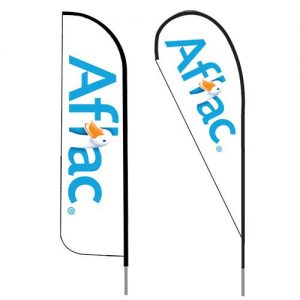 Aflac_insurance_agent_logo_feather_flag_outdoor