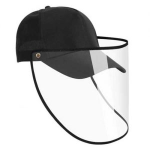 Cap-hat-face-shield-adjustable-full-face-cover-isolation-protective-mask-baseball-cap-prevent-droplets-protective-products-black