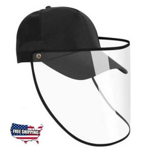 Cap-hat-face-shield-adjustable-full-face-cover-isolation-protective-mask-baseball-cap-prevent-droplets-protective-products-black_US