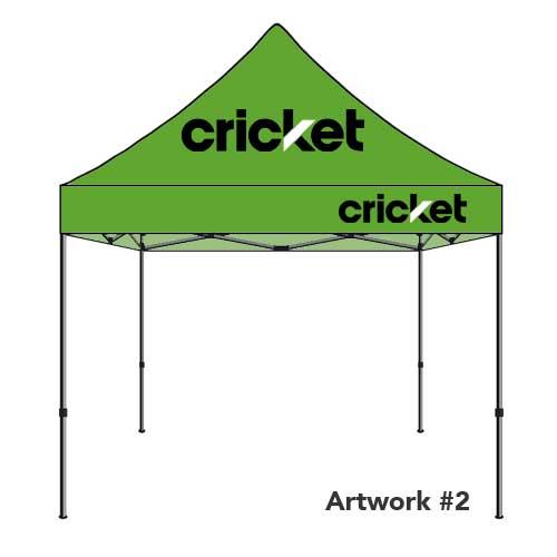 Cricket_wireless_logo_tent_canopy_green
