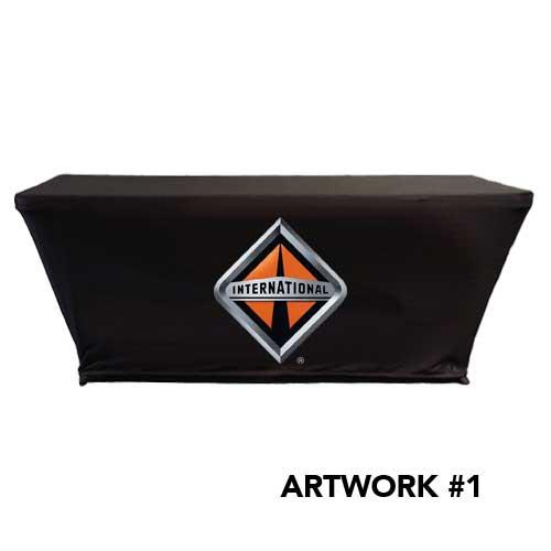 International_trucks_stretch_table_cover_logo_print_black_1