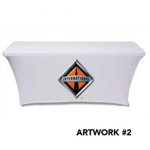 International_trucks_stretch_table_cover_logo_print_white_2