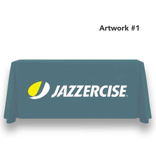 Jazzercise_fitness_logo_table_throw_cover_print_banner_gray_1