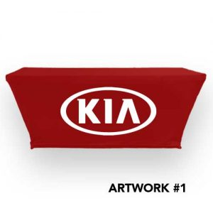 KIA_Motors_stretch_table_cover_logo_print_red_1