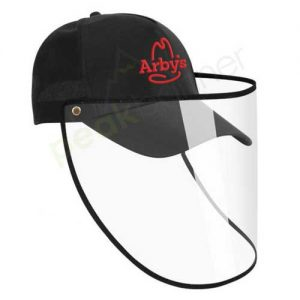 Logo_Hat_cap_custom_embroidered_face_shield_protective_arbys