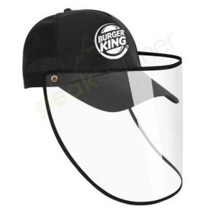 Logo_Hat_cap_custom_embroidered_face_shield_protective_burger_king
