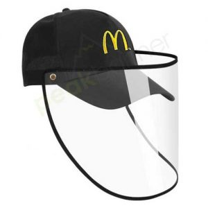 Logo_Hat_cap_custom_embroidered_face_shield_protective_mcdonalds