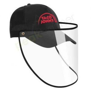Logo_Hat_cap_custom_embroidered_face_shield_protective_taco_johns