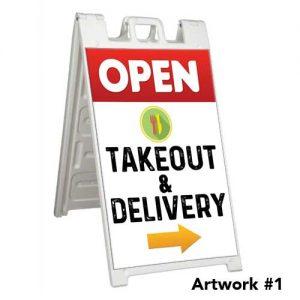 Open_takeout_delivery_curbside_sidewalk_aframe_sign_restaurant_1