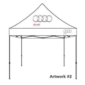 Audi_rings_Auto_dealer_custom_logo_tent_canopy_white