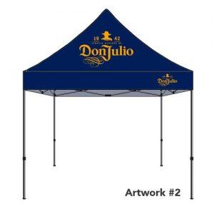 Don_julio_custom_logo_tent_canopy_navy