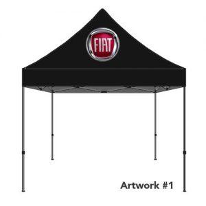 Fiat_Auto_dealer_custom_logo_tent_canopy_black