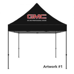 GMC_truck_Auto_custom_logo_tent_canopy_black