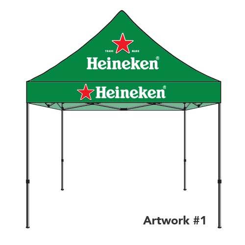 Heineken_beer_custom_logo_tent_canopy