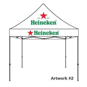 Heineken_beer_custom_logo_tent_canopy_white