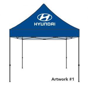 Hyundai_Auto_dealer_custom_logo_tent_canopy_blue
