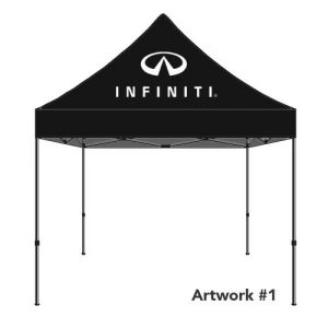 Infiniti_Auto_dealer_custom_logo_tent_canopy_black