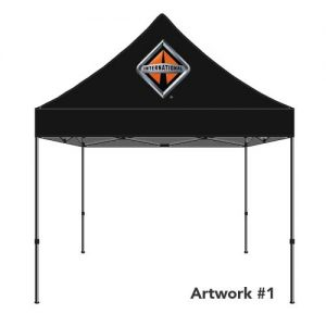 International_trucks_dealer_custom_logo_tent_canopy_black