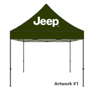 JEEP_Auto_dealer_custom_logo_tent_canopy_olive
