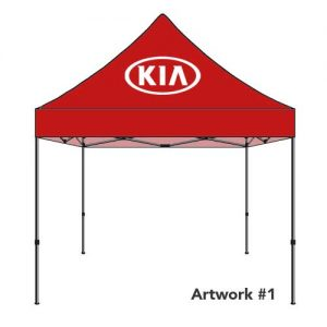 KIA_Auto_dealer_custom_logo_tent_canopy_red