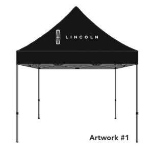 Lincoln_Auto_dealer_custom_logo_tent_canopy_black