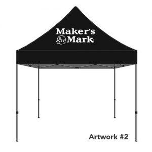 Makers-Mark-custom-logo-tent-canopy-black