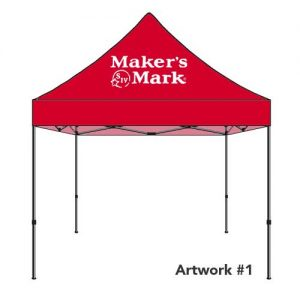 Makers-Mark-custom-logo-tent-canopy-red