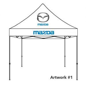 Mazda_Auto_dealer_custom_logo_tent_canopy_white