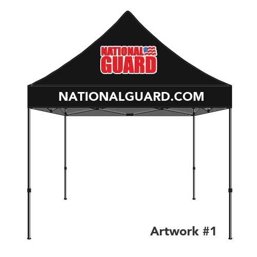 National_guard_army_custom_logo_tent_canopy_black_2