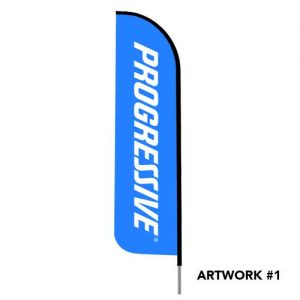 Progressive-insurance-agent-logo-feather-flag-blue