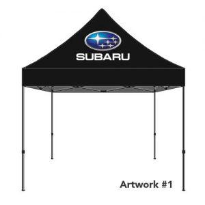 Subaru_Auto_dealer_custom_logo_tent_canopy_black