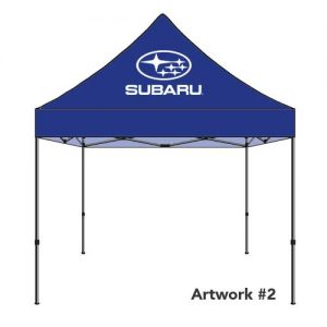 Subaru_Auto_dealer_custom_logo_tent_canopy_blue