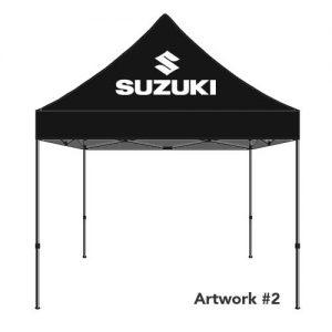 Suzuki_Auto_dealer_custom_logo_tent_canopy_black