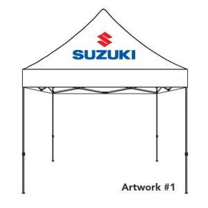 Suzuki_Auto_dealer_custom_logo_tent_canopy_white_1
