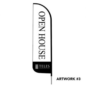 Teles-properties-open-house-logo-feather-flag