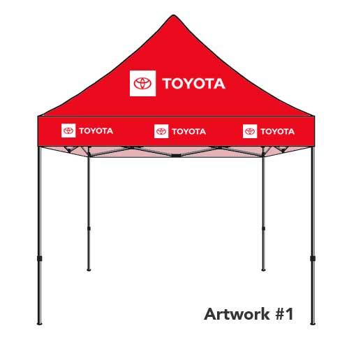 Toyota_Auto_dealer_custom_logo_tent_canopy_red