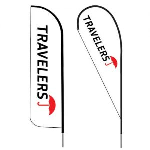 Travelers-insurance-agent-logo-feather-flag