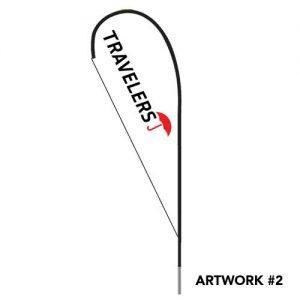Travelers-insurance-agent-logo-teardrop-flag