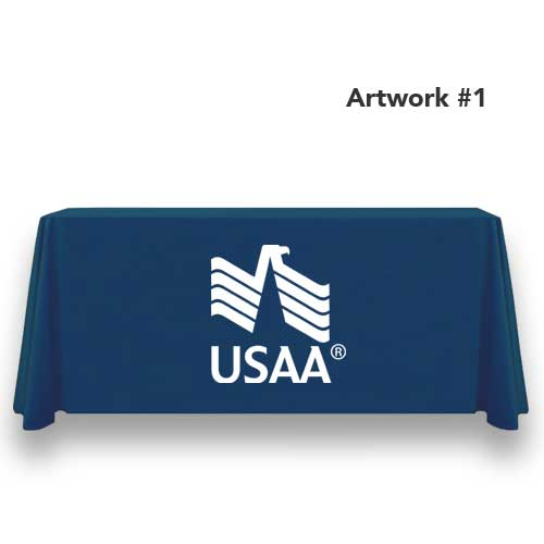 USAA_insurance_table_throw_cover_print_banner_navy