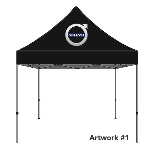 Volvo_Auto_dealer_custom_logo_tent_canopy_black
