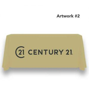 c21-century-21-realty-table-throw-cover-logo-print-tan