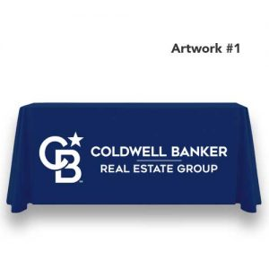 cb-coldwell-banker-realty-table-throw-cover-logo-print-blue