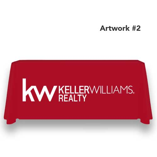 kw-keller-williams-realty-table-throw-cover-logo-print-red