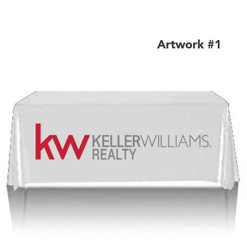 kw-keller-williams-realty-table-throw-cover-logo-print-white