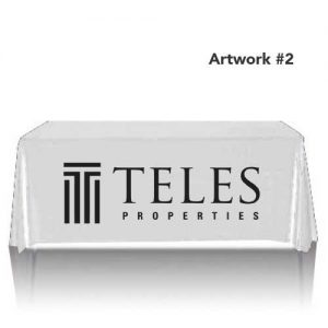 teles-properties-realty-table-throw-cover-logo-print